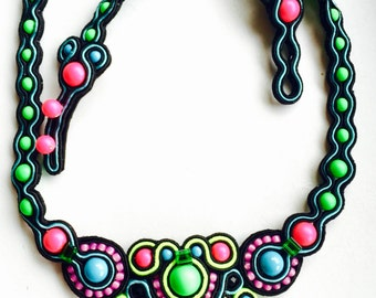 Soutache necklace from NEW colourful summer collection
