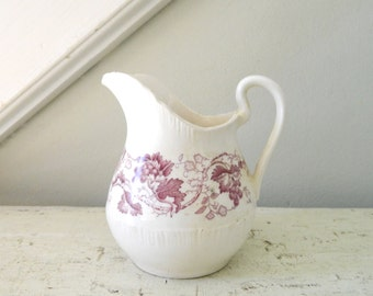Vintage Ironstone Creamer Pitcher Old Vine
