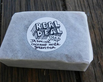 Jasmine/Coconut Milk/Green Tea REAL DEAL Soap