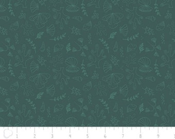 Under the Sea Dark Teal Tonal Fabric From Camelot