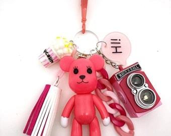 Popobe Pink Bag Charm