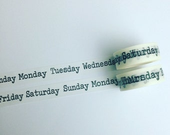 Days of the week washi