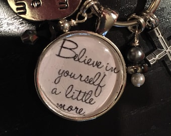Inspirational pendant purse charm