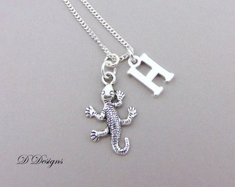Lizard Necklace, Lizard Pendant, Reptile Necklace, Personalised Lizard Jewellery, Personalised Lizard Necklace, Lizard Gifts,