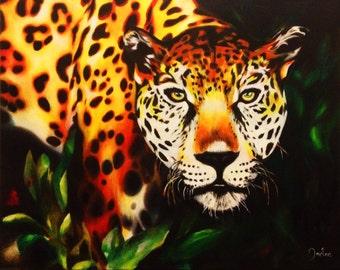 Jaguar print of an original oil painting