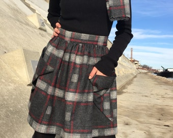 Short plaid skirt | Etsy