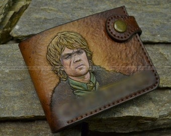 leather wallet with the image of Tyrion Lannister