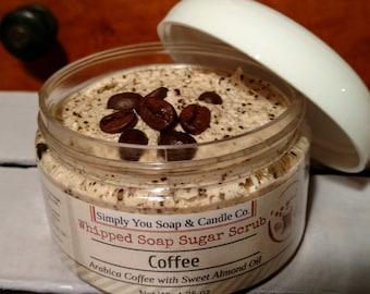 Coffee-  Whipped Soap Sugar Scrub