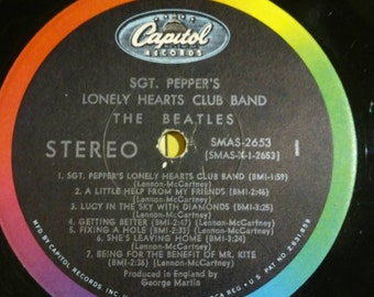 1968 SGT Peppers Lonely Hearts Club Band By the Beatles SMAS 2653