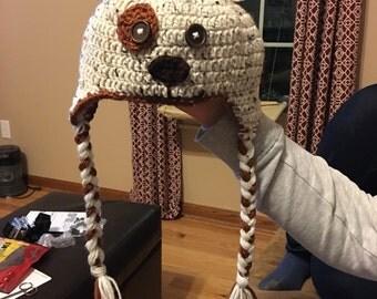Children's crochet puppy dog hat