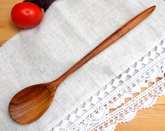 Carved cooking wooden spoon from plum,wooden spoons,stirring wooden spoons,serving wooden spoons,wood spoon,wooden kitchen utensils,tasting