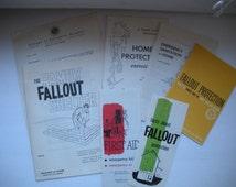 Vintage Safety Information ~ Fallout Shelter Mailing Packet ~ Nuclear Attack Information ~ Vintage Information Packet