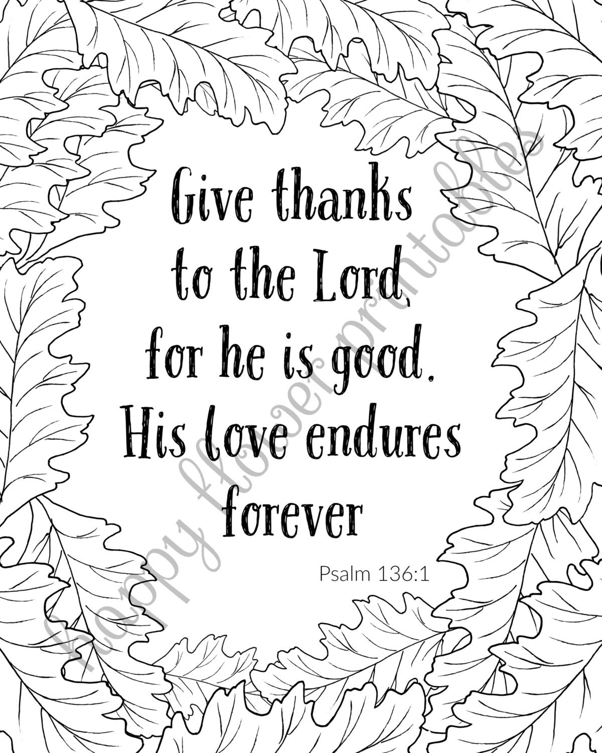 thanksgiving coloring pages bible verses - photo#20