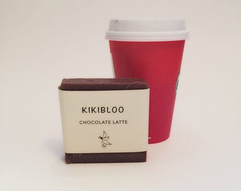 Chocolate Latte Soap Vegan Organic Cold Process Soap By kikibloo