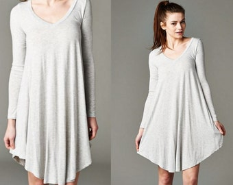 Gray Tunic Dress
