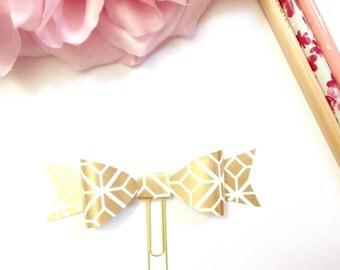 Planner Paper clips in Adorable Hexagon Cream and Gold Planner Accessories,Planner Paperclips collection