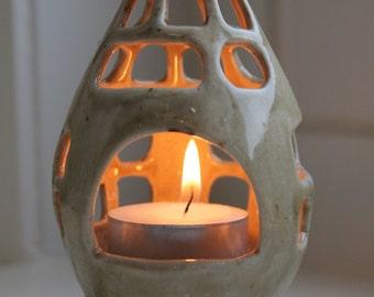 Yellow/green candlelightholder