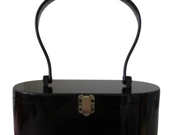 Black Vintage-inspired handbag (rockabilly, pinup, retro)
