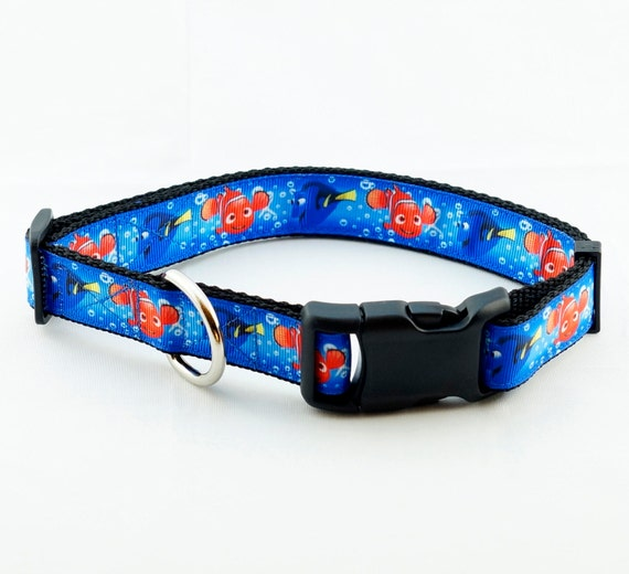 Fish in the sea dog collar 1 width large extra for Fish dog collar