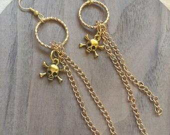 Gold skull warrings