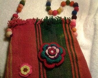 Andean textile crossbody