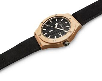 Burnwoods wooden watch Hades Maple