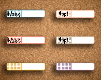 DOTS Appointment, Work, Blank Label Planner Stickers for Inkwell Press Planner IWP-DB1