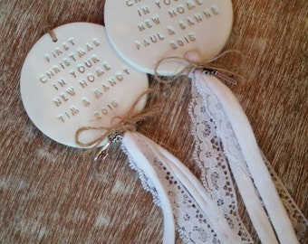 First Christmas in our new home ~ Clay Christmas Ornament ~ Christmas Decor ~ Christmas Ornament ~ New Home Gift