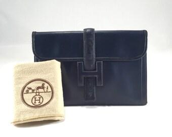 Hermes Jige Clutch Bag BLUE