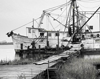 Home Sweet Home, shrimp boat, Louisiana photos, Louisiana, Cajun, bayou prints, Cameron