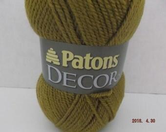 Patons Decor Yarn ~ Wool Blend ~ Honey ~ #4 Medium ~