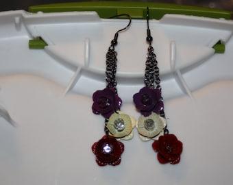 Multicolor Rose Earrings