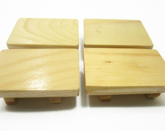 Dollhouse Miniatures 4 Empty Sushi Japanese Food Box Wood Accessories Supply 10977
