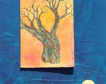 Tree of Life 2 Original Watercolor Painting