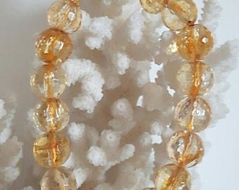 Gemstone citrine bracelet