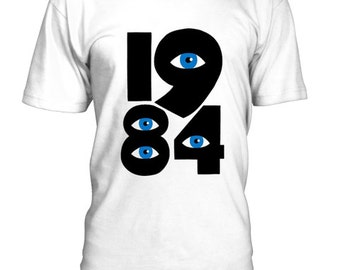 George Orwell 1984 hand painted t-shirt-handpainted t-shirts