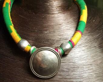 """Beautiful necklace wax """"EUCALYPTUS""""."""