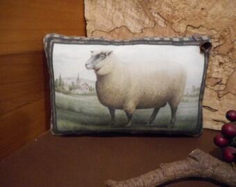 Pillow Tuck: Primitive Rustic Americana Pillow Tuck.