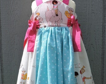 Cute Dress/ Girl Dress/ Custom Made. Cute Dress/ Available in sizes 12 months through 10)