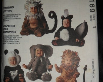 McCalls Crawling Critters Costumes Infant/Toddlers Size 3 Pattern #7169