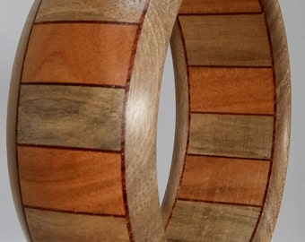 Bracelet wood cherry - Walnut