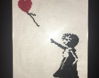 Banksy Balloon Girl Cross Stitch