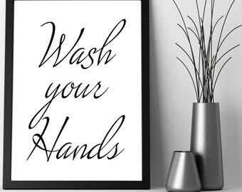 TYPOGRAPHY , DIGITALDRUCK ( Wash your hands )