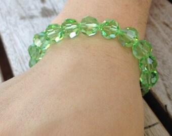 Green Gemstone Swarovski Braclet
