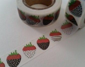 Chocolate Covered Strawberry Washi Tape