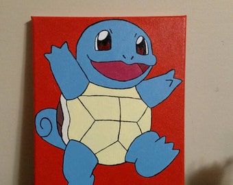 Pokémon Squirtle 8x10 Painting