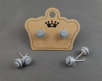 LEGO Earring Stud - Light Grey