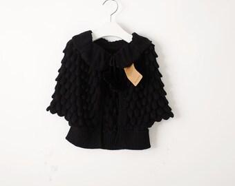 Sofia sweater coat in black