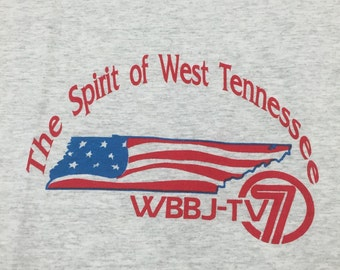 90s WBBJ TV The Spirit Of West Tennessee Large Shirt