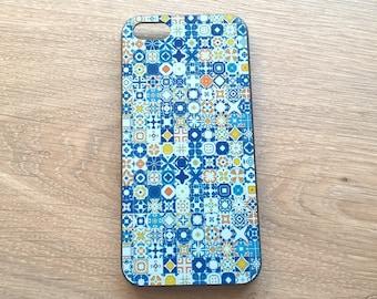 iPhone cover, cellphone case Portuguese tiles, modern design